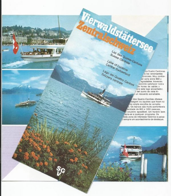 SGV - Lake Of Lucerne, Central Switzerland - leaflet